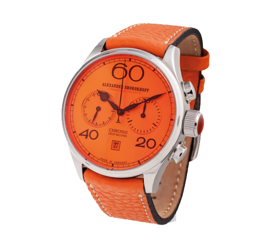 Alexander Shorokhoff AvantGarde Chronograph Orange