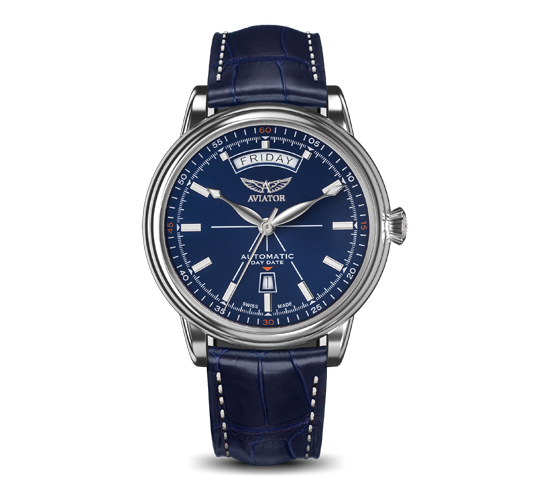 Aviator Douglas Day Date Blue