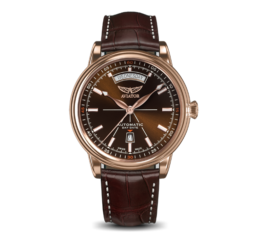 Aviator Douglas Day Date Brown
