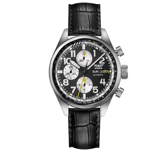 Aviator Airacobra Chrono Black White SS