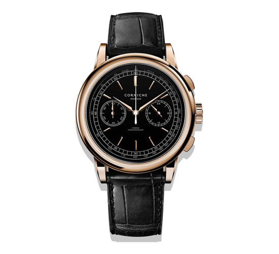 Corniche Heritage Chronograph Rose Gold/Black