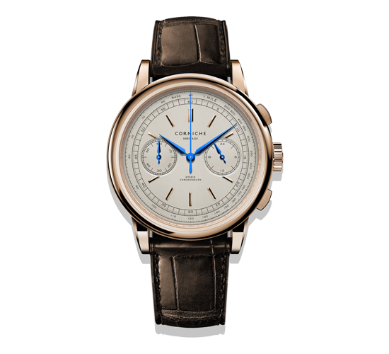 Corniche Heritage Chronograph Rose Gold/Cream