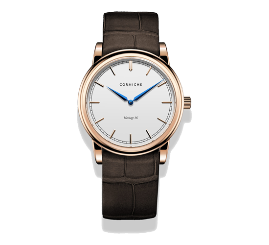 Corniche Heritage 36 Rose Gold/White