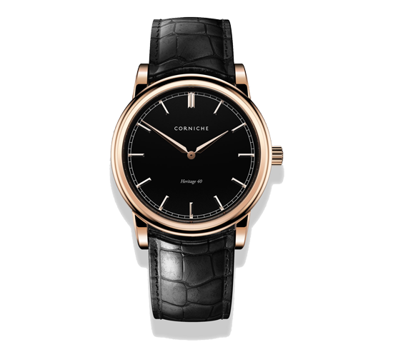 Corniche Heritage 40 Rose Gold/Black