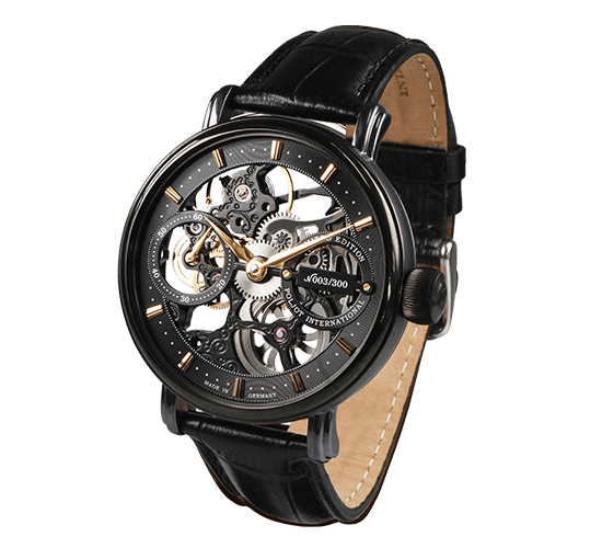 Poljot International Nicolai II Skeleton Black
