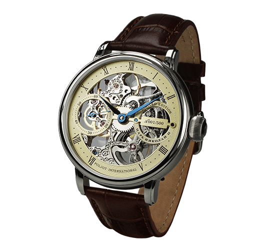 Poljot International Nicolai II Skeleton Steel/Gold