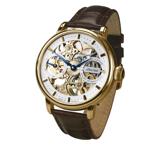 Poljot International Nicolai II Skeleton Yellow Gold