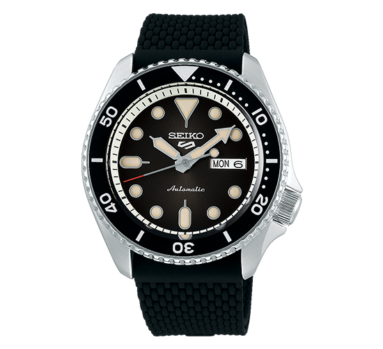 Seiko 5 SRPD73K2 Suits Black Rubber