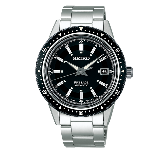 Seiko SPB131J1 Presage Crown Black