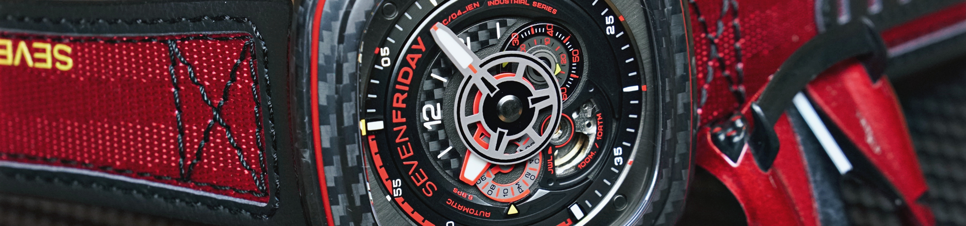 SEVENFRIDAY P3C/04 Red Carbon