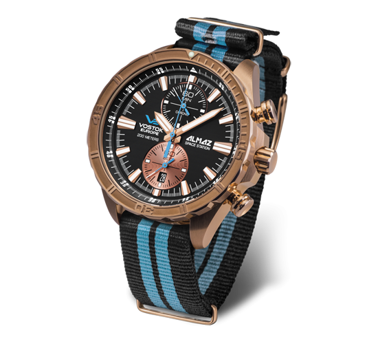 Vostok Europe Almaz Bronze Black-Blue