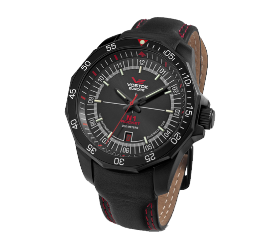 Vostok Europe N1 Rocket PVD Black Red