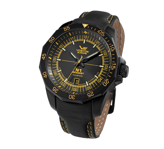 Vostok Europe N1 Rocket PVD Black Yellow