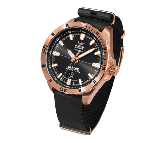 Vostok Europe Almaz Rose Gold Black