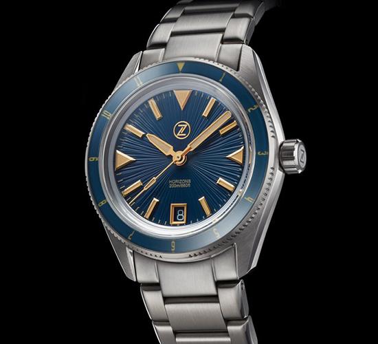 Zelos Horizons Diver Cobalt Blue